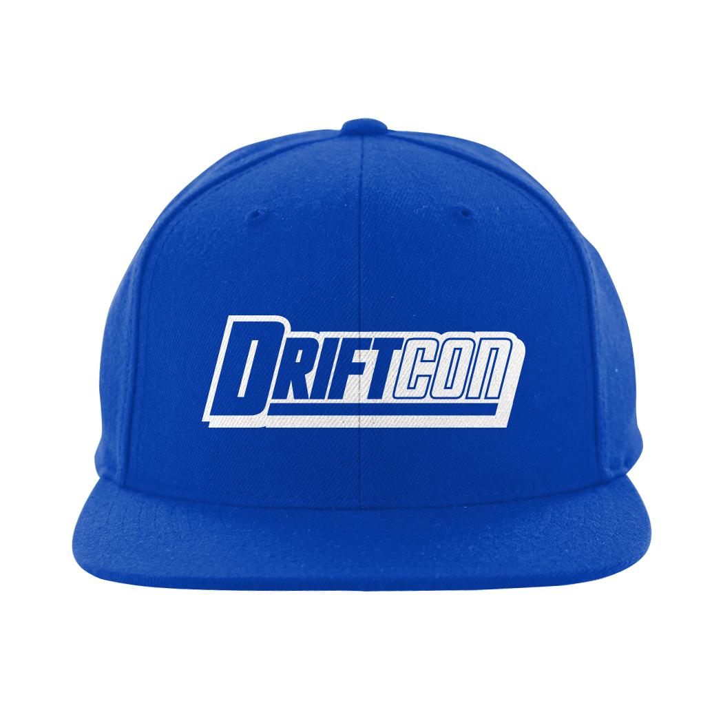 d7c34fb499a56 Blue Snapback Flat Bill Hat - DriftCon