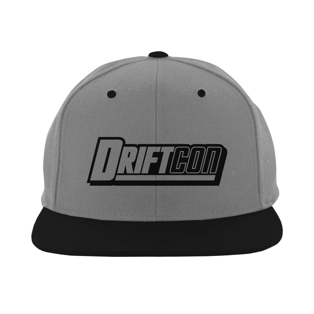 e9c05395f5794 Gray   Black Snapback Flat Bill Hat - DriftCon
